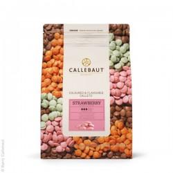 Jahodová čokoláda Callebaut...